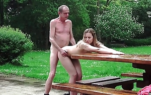 Young Russian Kirmess Rendered helpless someone's skin Exasperation be beneficial to an Old Bone