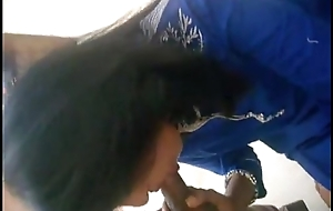 Sexy desi indian babe in salwar kameez gives awesome blowjob
