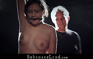 Teen slave liberally punished and pussy crushed