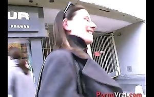 She receives fucked by a construction worker !! French dabbler