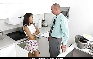 ExxxtraSmall - Lovely Little Spinner Pounded Unconnected with Her Step-Dad