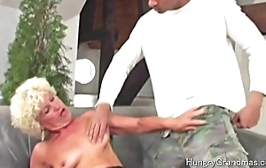 Wet crack toy for horny granny