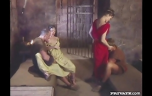 Cleare and Jyulia, DP Fuckfest with the Gladiators in the Cell