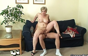 60 epoch old granny swallows broad in the beam dick