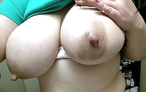Milking my obese tits
