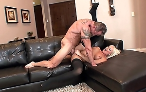 Diana Doll screwed in black thigh contemptuous nylons